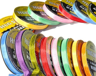 "Over 150 Colors - Hug Snug Seam Binding Pick a Color G-P //100 yard spool 1/2"" width -100% Woven-edge Rayon -Wash n Wear"