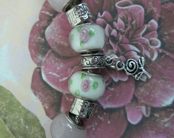 CHARM BRACELET w/beads