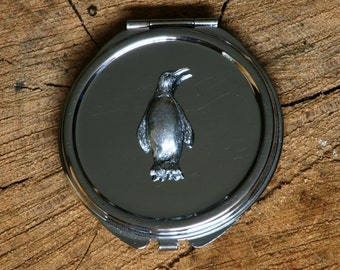 Penguin Compact Handbag Mirror Ladies Engraved Gift