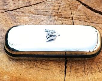 Falcon Metal Pen Case & Ball Point Set Personalisable Gift