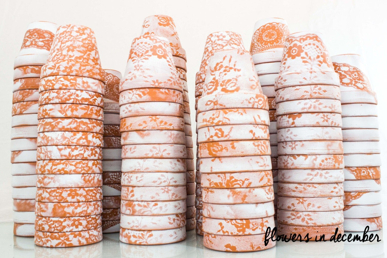 MINI Flower Pots Lace Party Favors Planter By FlowersinDecemberDS