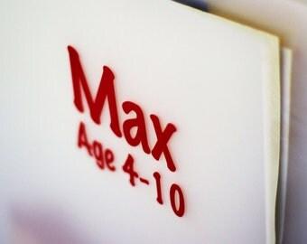 "Marker Design 13""x19"" Personalized Portfolio to organize kids art and paperwork"
