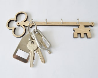 Key shape key holder, key shape key hook, key hanger
