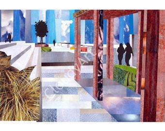Railroad Corridor Collage II - Giclee Print