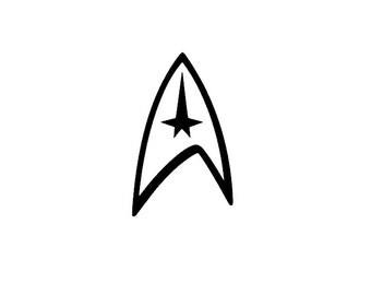 Star Trek Vinyl Car Decal, Federation, Voyager, Enterprise, Sticker, Deep Space 9, Next Generation, Decal, Multiple Choices, Window Decal