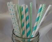 Multipack- Sweet Mint Paper Straws Set of 20