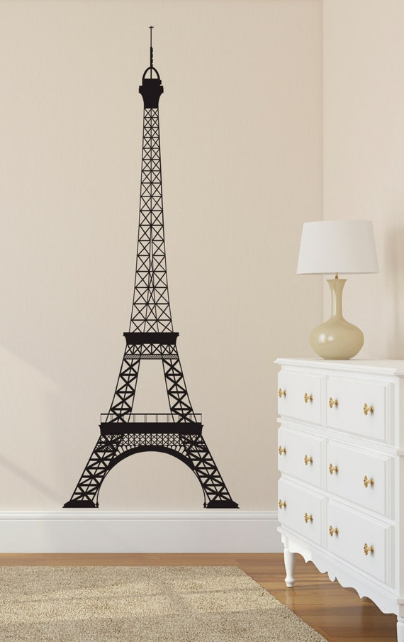 Eiffel Tower Wall Decal Paris Wall Decal Wall By