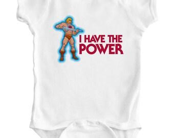 HE-MAN - Baby Romper / Creeper / Bodysuit / Snapsuit / Vest / One piece / Shirt / 80's