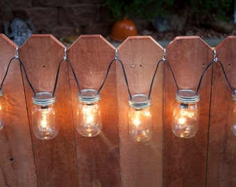 Ball Jar String Lights : Edison Bulb String Light Mason Jar String Light Patio Light Edison Light Mason Jar Light Canning ...