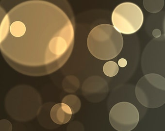 Abstract Art: modern decor, bokeh circles, gold & grey, decor for men