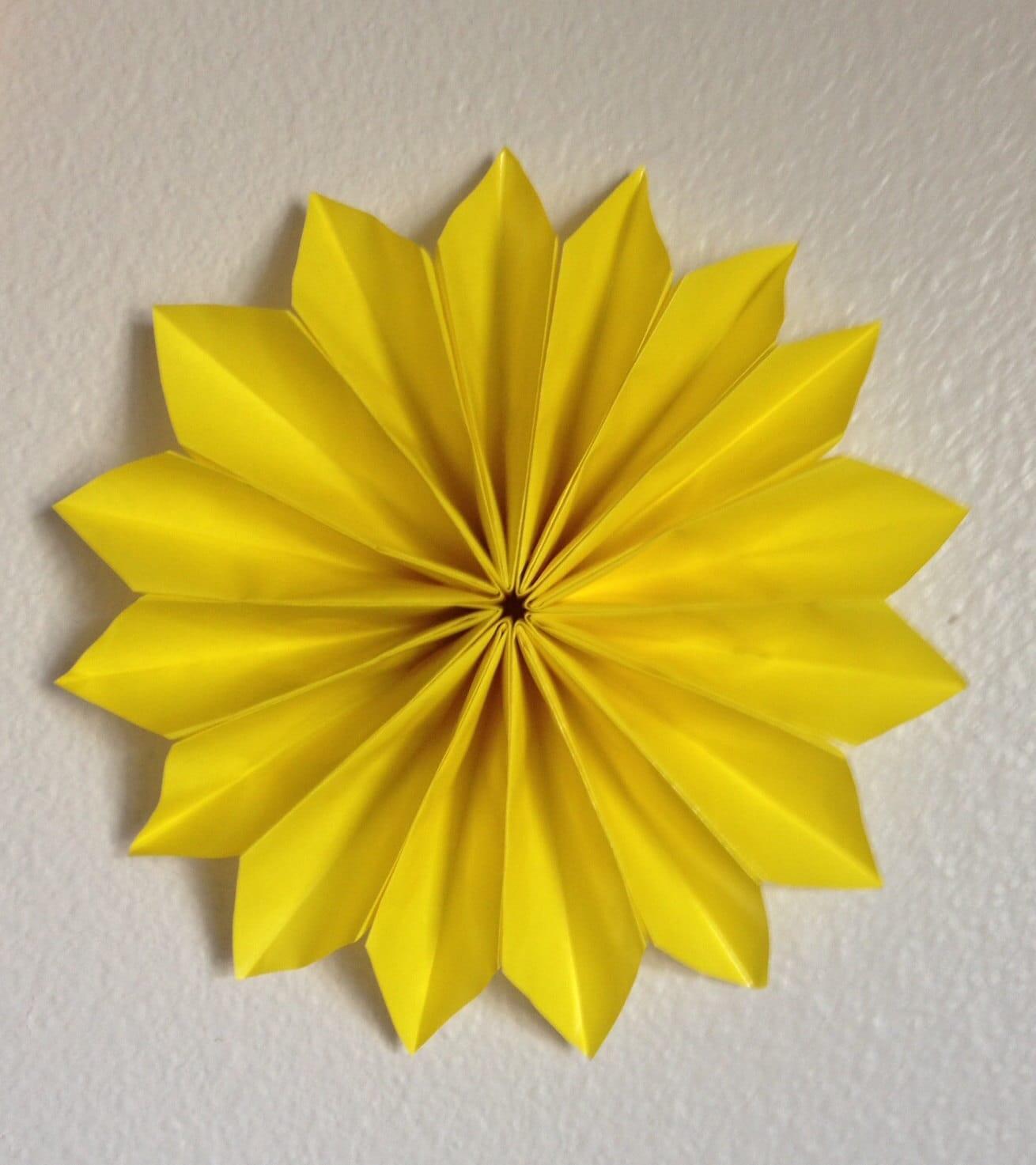 Origami Flower Wall Decor [E10231018401296936M] - $25.00 ...