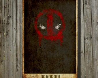 Dead Pool movie poster minimalist poster comic book print comic book art