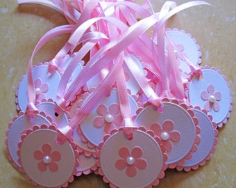 20 Pink Baby Shower Favor Tags, It's a Girl, Baby Girl, Gift Tag, Party Favor, Pink, Baby Shower Gift Tags, Favors, Birthday party gift tags
