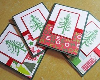 Tree Christmas Cards, Christmas Card Set, Holiday Cards, Boxed Christmas Card Sets, Holiday Card Set, Merry Christmas Card Sets