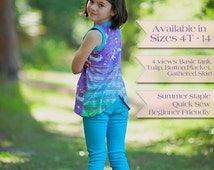 Love Notions Hip-Hop Tank pattern for girls 4T, 5T, 6, 7, 8, 10, 12, 14
