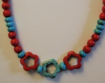 "Contrasts 20"" Necklace - handmade in the U.S."