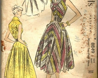 1950s Vintage McCalls 8849.FF unused and uncut.Vintage Sewing Pattern
