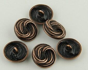 Elegant and lightweight alloy button beads -10- Ten Buttons