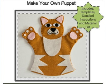 PDF Template Download - Kitty Hand Puppet