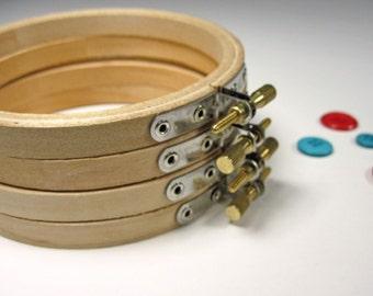 Embroidery Hoop, 4-inch - Wooden Hoop - Round Frame
