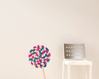 Giant Lollipop Fabric Wall Decal