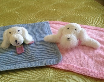 Two Doggie Cuddle Blankie Comforters, allowing mix and match of patterns