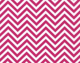 Robert Kaufman Remix Hot Pink Zig Zag Chevron 100% Cotton by Ann Kelle