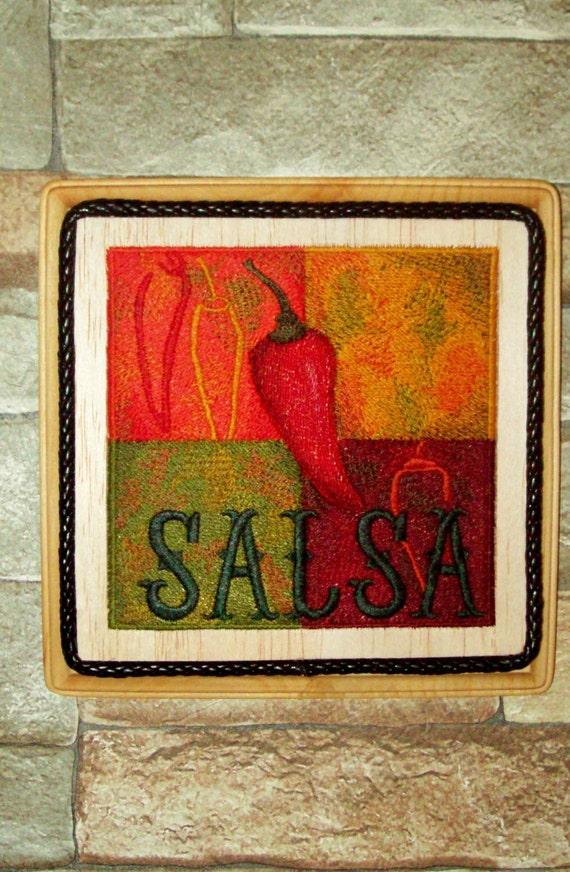 Salsa Chili Pepper Kitchen Wall By Witchezstitchez On Etsy