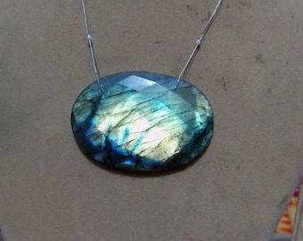 1 Pendant Spectrolite  Labradorite   Faceted Oval   shapes   beads