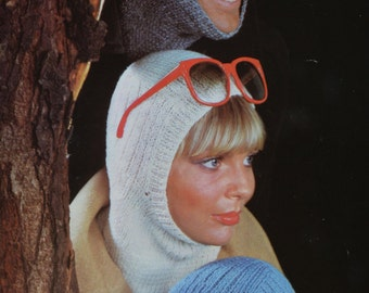 PDF family balaclavas balaclava vintage knitting pattern pdf INSTANT download pattern only pdf 1970s mens womens kids
