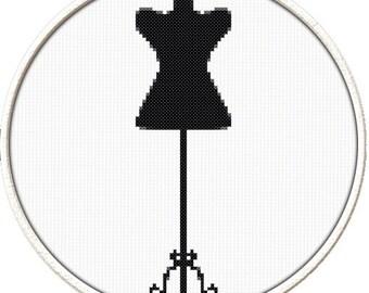 Dress Form - PDF Downloadable Printable Cross Stitch Pattern