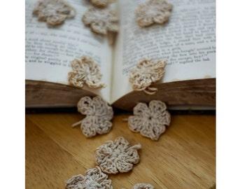 Tiny Tea Stained Crochet Flowers for Embellishing