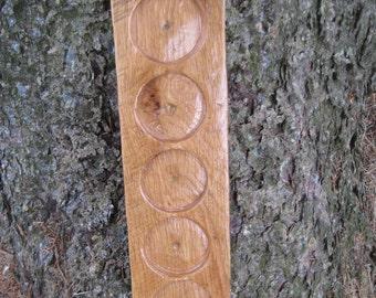 Reclaimed Oak Shot Glass Holder, Display Shelf
