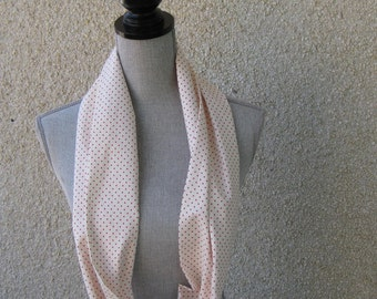 Infinity fabric scarf, Fabric scarf, Infinity scarf, tube scarf, eternity scarf, loop scarf, long scarf in a print cotton fabric