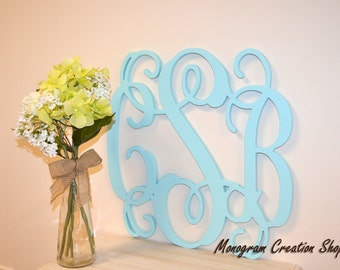 24 inch painted wooden monogram monogram your home gift wedding decor nursery decor wall hanging letters