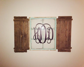 20 inch Painted Wooden Wall Monogram - Monogram your home-Gift-Wedding Decor