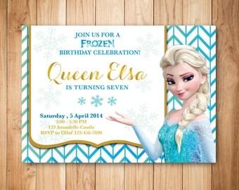 Printable frozen birthday invitation - Elsa birthday invitation - Frozen party invitation - Digital frozen invitation