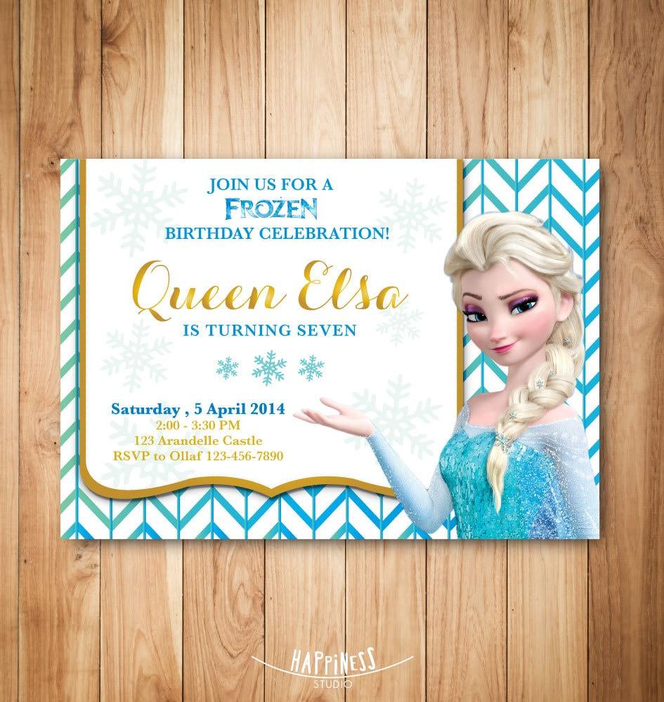 Elsa Birthday Invitations correctly perfect ideas for your invitation layout