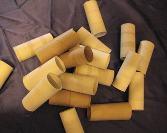 Cardboard toilet paper tubes by the dozen