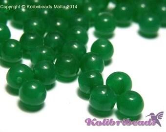 Round Glass Beads 6 mm - Jade