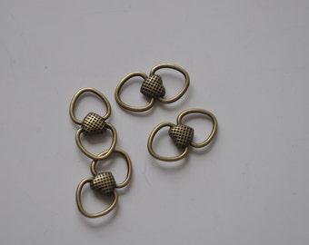 25pcs  Antique Bronze Love fittings restoring ancient ways Charm Pendants--24*13mm---L008