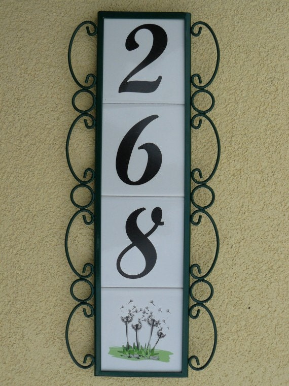 ceramic decorative house number. Black Bedroom Furniture Sets. Home Design Ideas