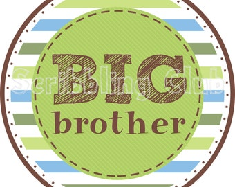 INSTANT DOWNLOAD Big Brother Iron on Transfer Design 2 Printable Iron On Transfer Design DIY Sticker