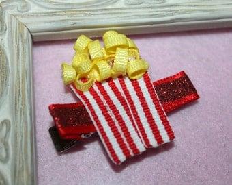 Popcorn Ribbon Sculpture Hair Clip