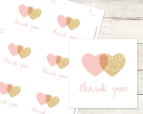 Pink gold hearts favor tags printable diy wedding bridal pink gold hearts favor tags printable diy wedding bridal shower favour tags pink gold glitter wreath thank you card instant download negle Gallery