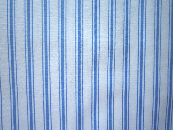 Blue Amp White Stripe Fabric Polished Cotton Marcus Bros