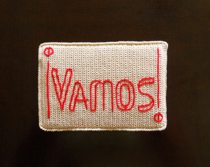 "Holiday Gift, Passport Cover, Custom Cover, Cream Soft Passport Cover, Spanish Phrase ""Vamos"", Gift for Travelers, Honeymoon Gift"