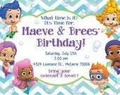 Bubble Guppies Birthday Invitation Design: Printable