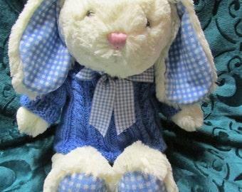 Flopsey Bunny with Handknit Aran