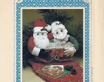 "13"" and 15"" Mr. & Mrs. Clause Craft Patterns - ""Holly Matrimony"" - All Cooped Up Vintage Craft Patterns"